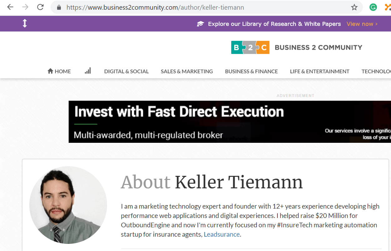 Keller Tiemann Author at Business2Community