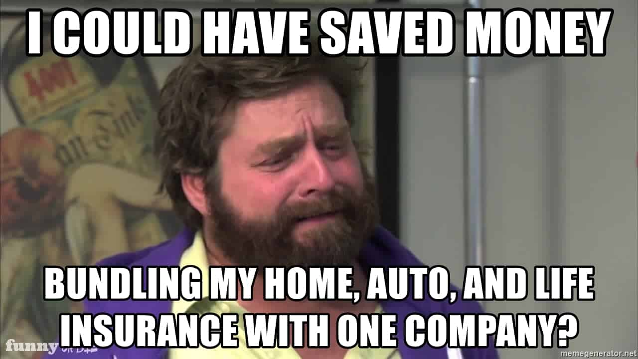 i could have saved money bundling my home auto and life insurance policies